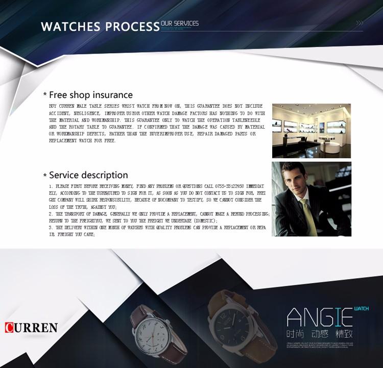 Curren 2016 Najlepsze Marki Biznesmenów Mężczyzna Luksusowy Zegarek Na Co Dzień Pełne stali Kalendarz zegarki Na Rękę zegarki kwarcowe relógio masculino 22
