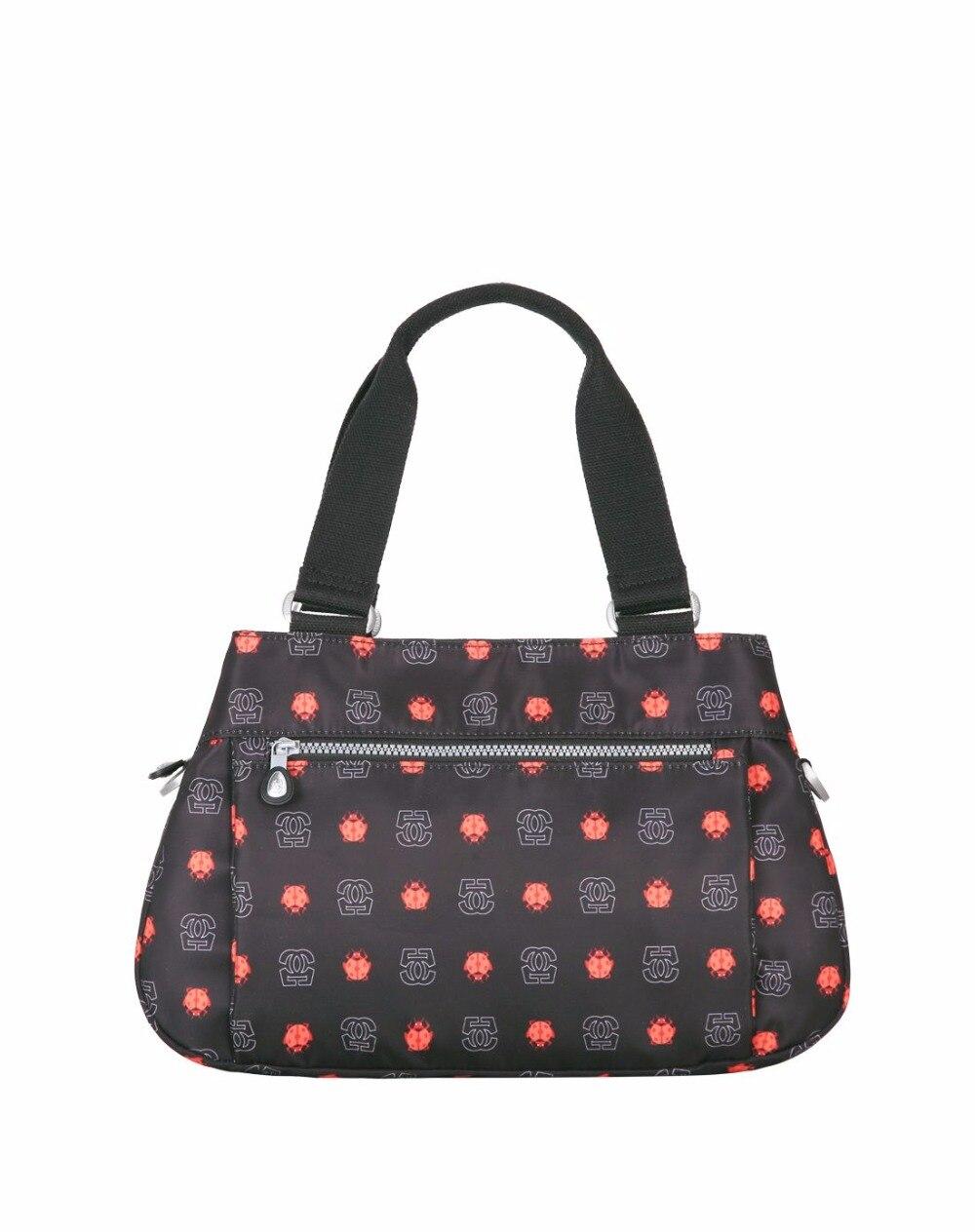 ФОТО Germano Hot Sale Women Totes Fashion Nylon Logo Printing Handbags Casual New Kip Single Shoulder Bags Leisure Bags For Women