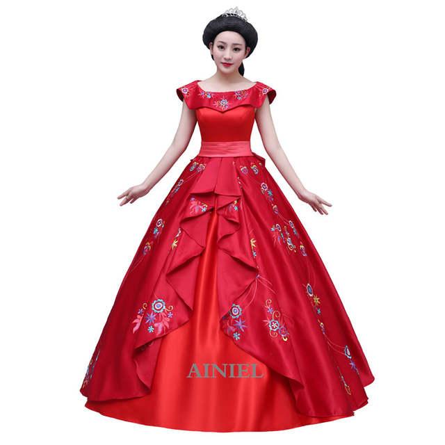 Kostüm In Abendkleid Für Maß Prinzessin Und Von Us125 Mädchen Frauen 1 Ballkleid 10Off Elena Cosplay Avalor Kleid Roten Erwachsene ainiel Nach hQxdtrCs