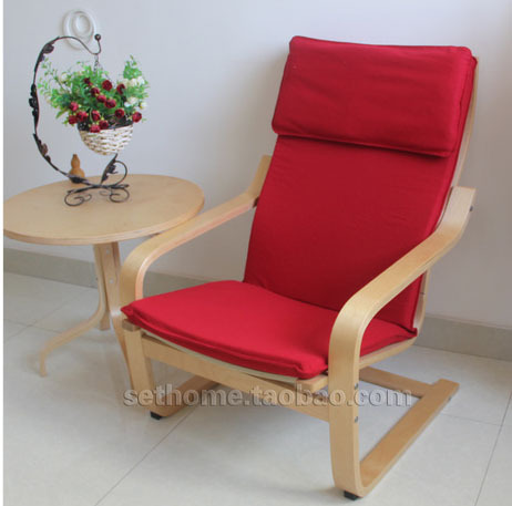 Sedie A Sdraio Ikea.Nordic Ikea Wind Wood Armchairs Fabric Recliner Den Living