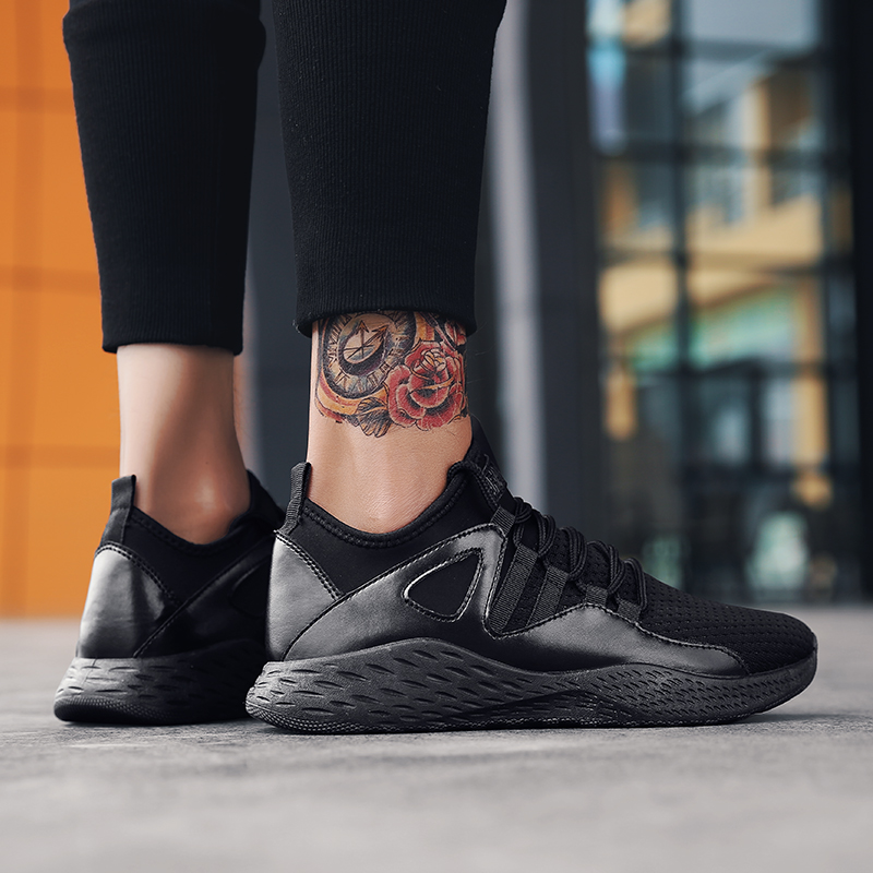 Men shoes 2018 New high quality fashion mesh light breathable men casual  5