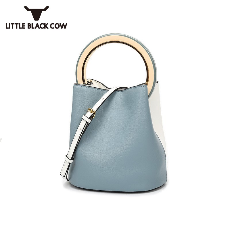 Summer Bucket Bag Women 2019 Brand Leather Luxury Ring Handbag High Capacity Lady Shoulder Crossbody Bags Ring Totes Small BagSummer Bucket Bag Women 2019 Brand Leather Luxury Ring Handbag High Capacity Lady Shoulder Crossbody Bags Ring Totes Small Bag