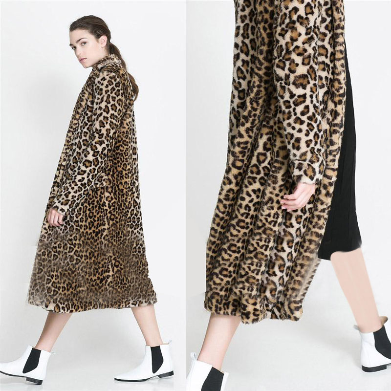 Popular Leopard Faux Fur Coat-Buy Cheap Leopard Faux Fur Coat lots ...
