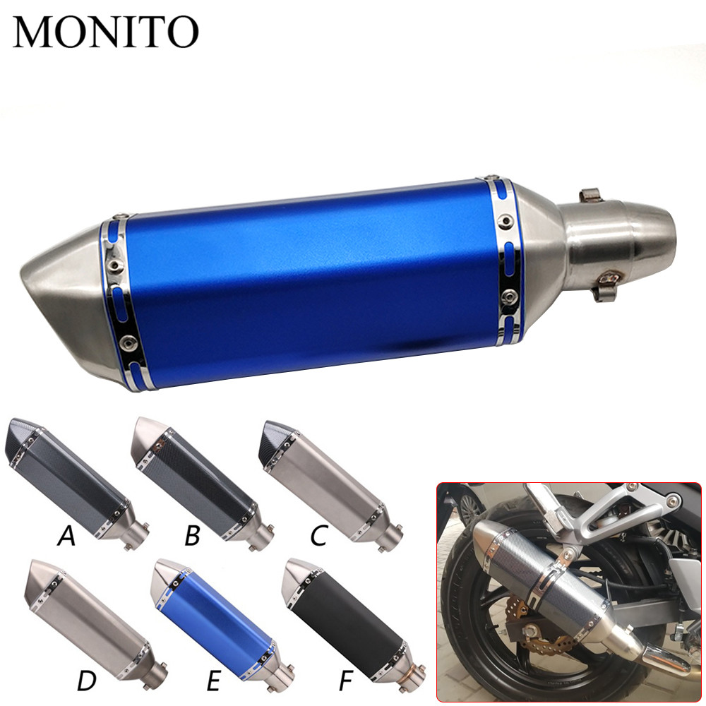 Universal Motorcycle Akrapovic Exhaust Dirt Bike Escape Modified Exhaust For SUZUKI DR250 DJEBEL 250XC YAMAHA YZ80 YZ85 YZ 80 85 in Exhaust Exhaust Systems from Automobiles Motorcycles