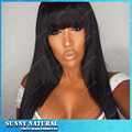 Yaki Synthetic Lace Front Wigs Heat Resistant Cheap Wigs With Bang For Black Women Long Kinky Straight Synthetic Lace Front Wigs