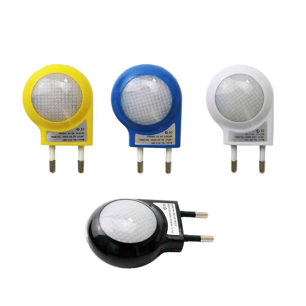 0.7W Mini Led Night Light Brightness White Emitting Color AC110V/220V 4 Body Color Optional EU Plug IQ