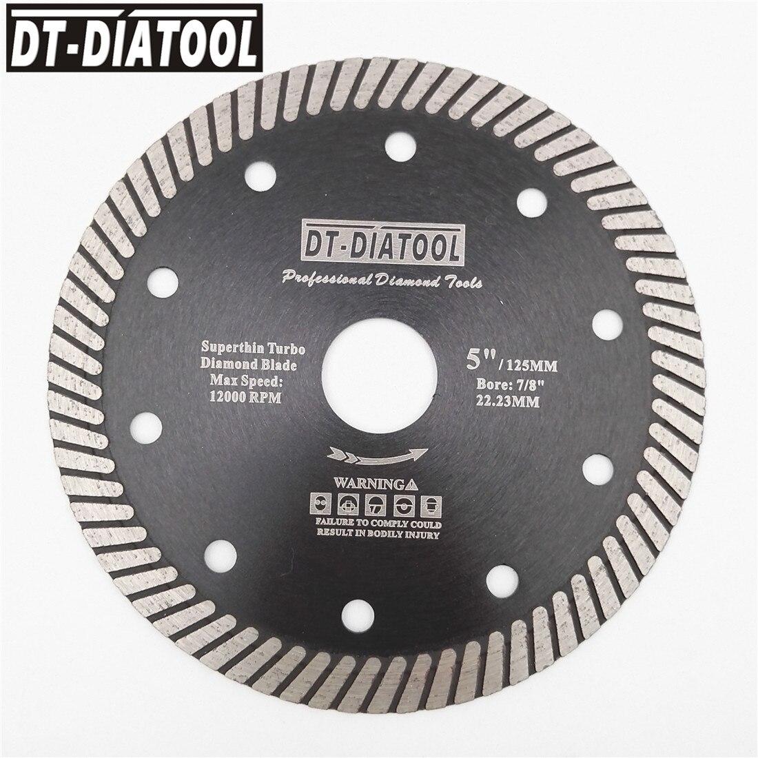 DT DIATOOL 10units Superthin Turbo Diamond Blade Hot Pressed Cutting Disc Hard Material Ceramic Tile Granite Diameter 4 quot 4 5 quot 5 quot in Saw Blades from Tools