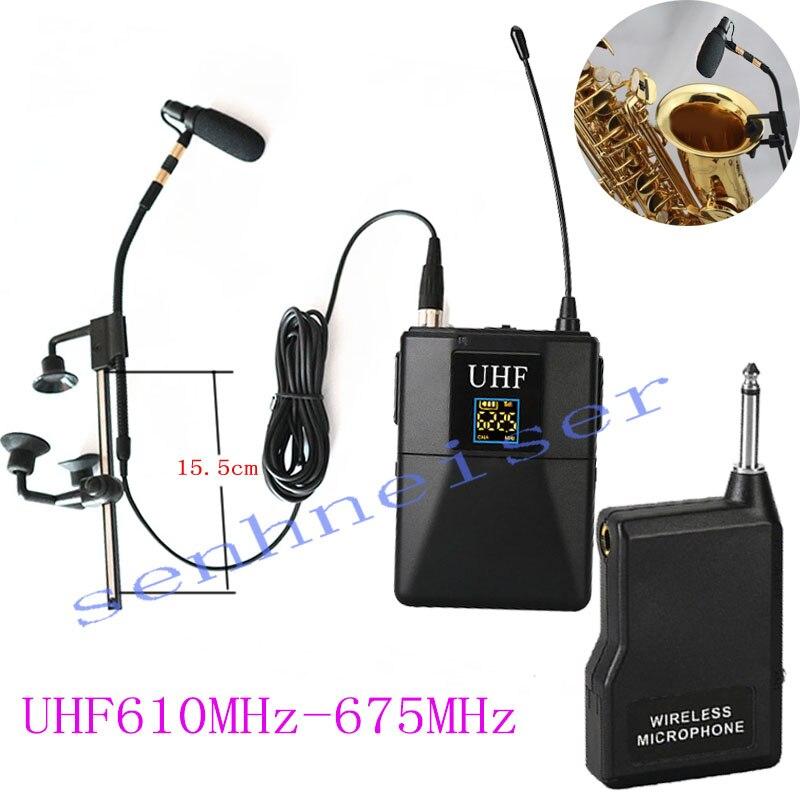 Sans fil universel agrafe de col-sur microphone U-bande réglable fréquence enseignement saxophone guitare REFLEX 6.35 prise microphone