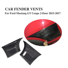 2PCs/Set Carbon Fiber Side Wing Fender Air Guide Vents Trim for Ford Mustang Coupe 2-Door 2015-2017