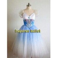 High Quality Customized Giselle Blue Gradient Color Soft Ballet Dresses Nightgown Dress Coppelia Ballet Dresses Retail