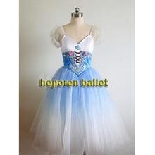 Hoge Kwaliteit Aangepaste Blauw Gradiënt Kleur Zachte Giselle Ballet Jurk Kostuum Nachtjapon, Coppelia Ballet Jurken Detailhandel Groothandel
