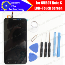 Cubot Note S LCD Display With Touch Screen Digitizer Assembly 100% Original Tested LCD Screen Glass Panel For Cubot Note S