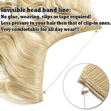 Long Synthetic Hair Fish Line Straight Hair Extensions