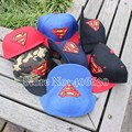 Snapback Sport Hats For Men Flat Brim Hiphop Caps Superman Sun Baseball Hats Free Shipping BSFE-001