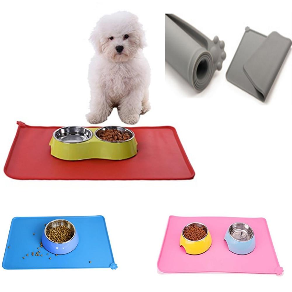 feeding mat food pvc pin pet non bowl placemat protection slip topotdor dog mats floor