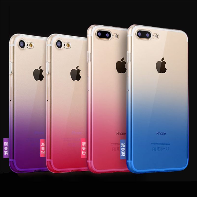 for Iphone6 mobile <font><b>phone</b></font> shell 6s for Apple 6plus ultra-thin soft shell 7 silicone all-inclusive <font><b>7plus</b></font> gradient female models