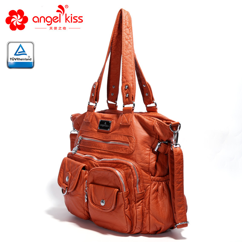 Sacs à bandoulière en cuir PU souple de luxe à plusieurs poches pour femmes sacs à bandoulière Hobo de grande capacité sac à main fourre-tout européen