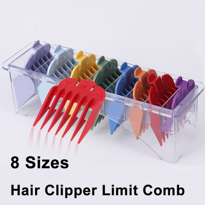 4 Sizes Hair Clipper Limit Comb Guide Attachment White Adjustable