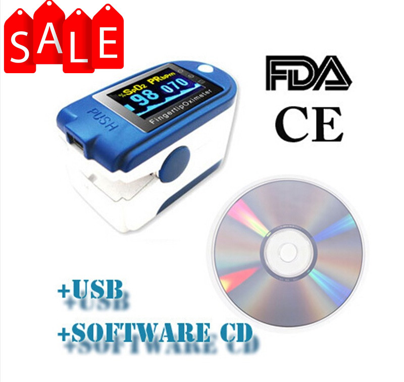 Pulse Rate ,SPO2 Monitor CMS50D+ Digital Ecectric Portable Home Health Care Fingertip Pulse Oximeter With USB Software cms50d pulse oximeter