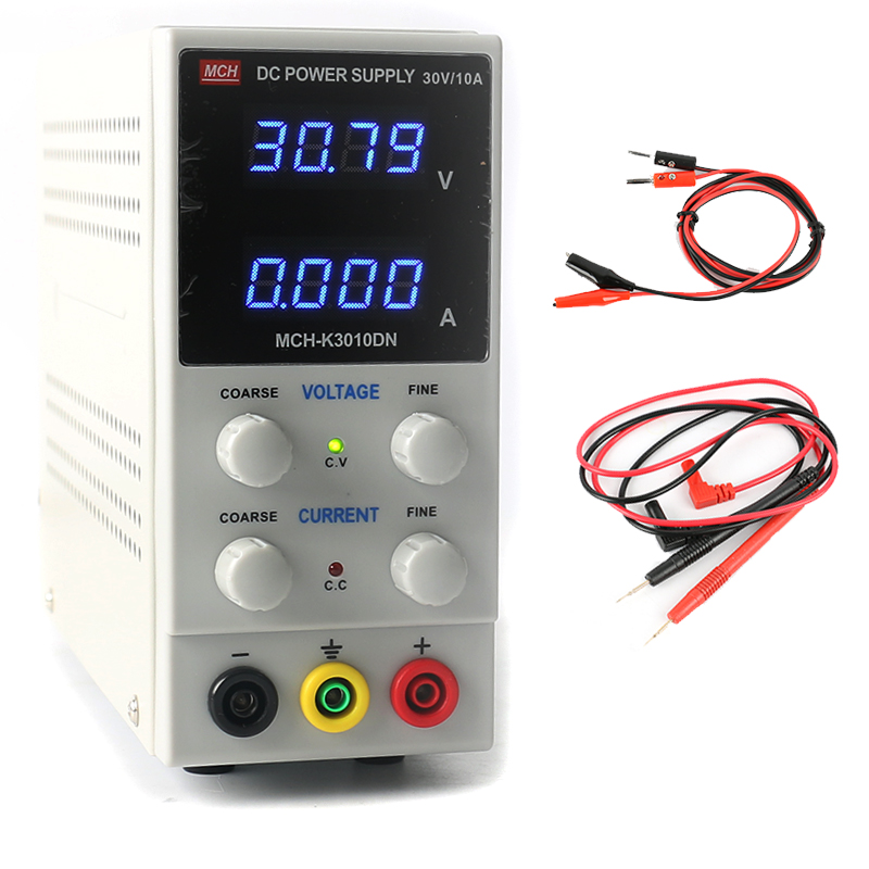 Mini switching power supply MCH-K3010DN Adjustable Regulated Laboratory DC Power Supply 30V 10A 0.01V/0.001A