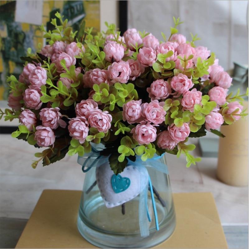 1 Bouquet 15 Heads Heads 4cm Vintage Wedding Mini