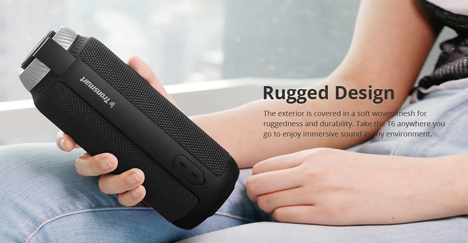 Tronsmart Element T6 Bluetooth 4.1 Портативный динамик Беспроводной звуковой проигрыватель Аудио-ресивер Мини-колонки USB AUX для музыки MP3 Player8