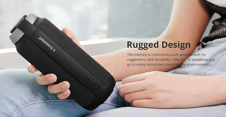 Tronsmart Element T6 Bluetooth 4.1 Altavoz portátil Receptor de audio de barra de sonido inalámbrica Mini altavoces USB AUX para música MP3 Player8