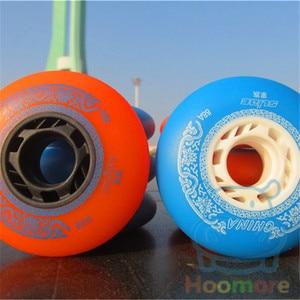 Image 4 - Famous Chinese Branded Slide Wheel for Sliding Inline Skates, 88A with Orange Blue 80mm 76mm 72mm 4 pcs/lot