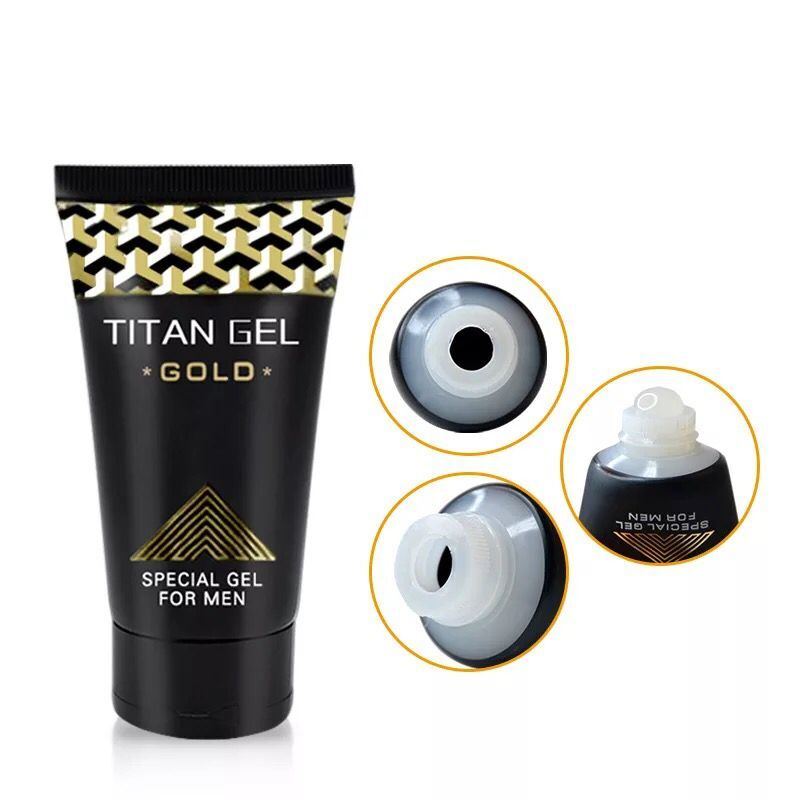 1PCS Original White Tube Titan Gel Gold Russian Penis Enlargement Cream Retarder Intim Gel Helps Men Effective Penis Growth Dela