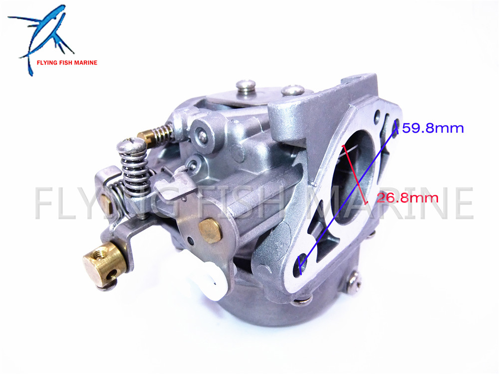 6G1-14301-01  Boat Motor Carburetor for Yamaha 2-stroke 6hp 8hp outboard motors 6G1-14301