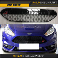 SHIP grills Racing ABS ST FREE grille styling 2013 2017 black trimfor car front grill FIESTA For ford