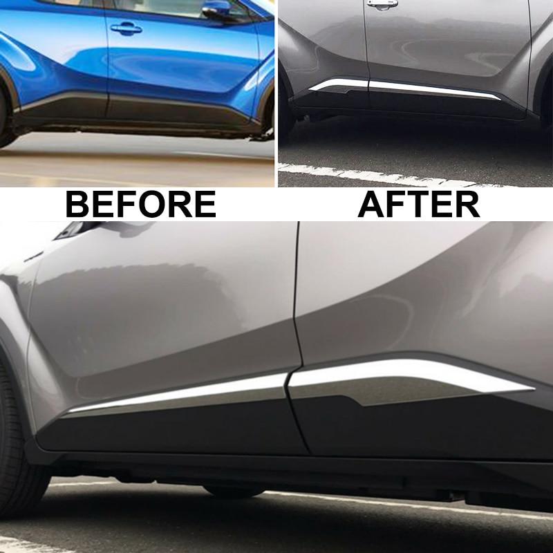 For Toyota C-HR CHR 2017 2018 2019 Door Body Side Line Cover Molding Chrome Trim