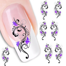 Beauty Gril Water Transfer Slide Decal Sticker Nail Art Tips Toe Decoration XF1423 Aug 24