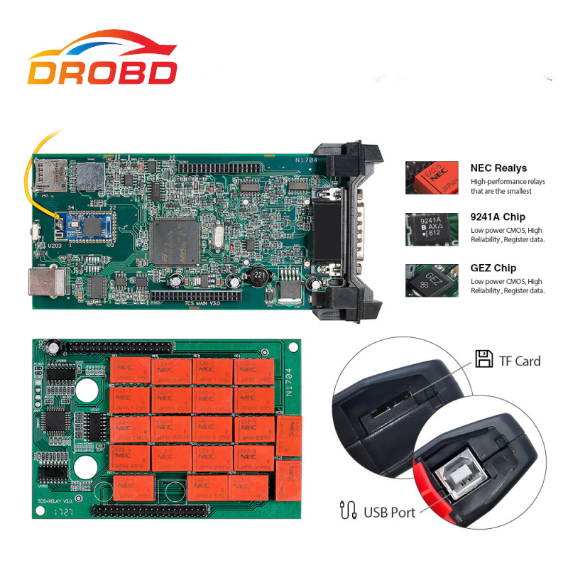 CDP TCS V3.0 NEC relay cdp pro green board Bluetooth 2015.R3 keygen software for CAR/TRUCK OBDII Code reader