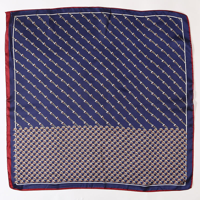 Badinka 2019 New Designer 70 70cm Hostess Kerchief Scarf Neckerchief Etole Femme Small Square Silk Flight Attendant Scarves in Women 39 s Scarves from Apparel Accessories