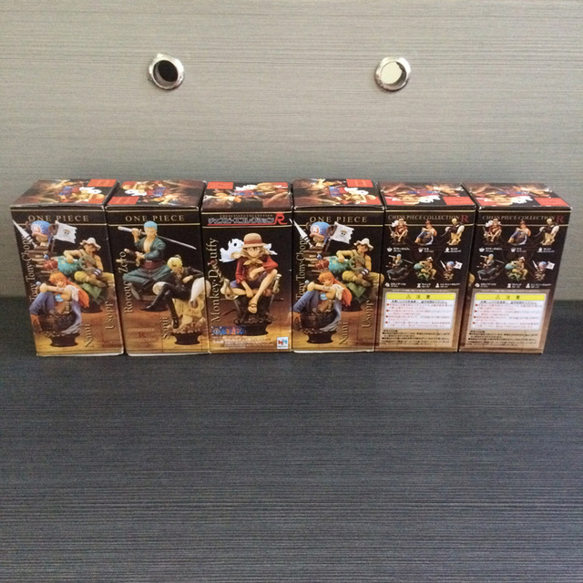 PVC New World Anime ONE PIECE Chess PIECE Figure Luffy Nami Zoro Usopp Sanji Model Toy full set