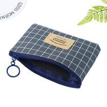 Unisex Canvas Purse Small Zipper Coin Card Key Mini Pouch Bag Holder Wallet Four Colors Available
