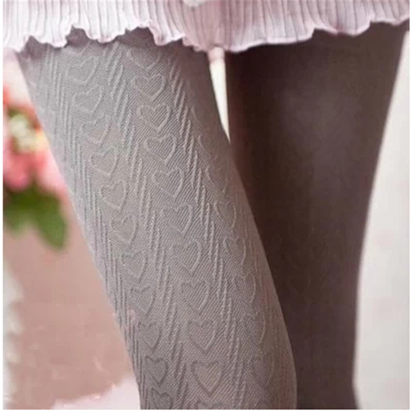 YGYEEG Fashion Tights Autumn Women Pantyhose Vertical Striped Love Heart Multi Colour Mbroidery High Elastic Velvet Skinny 160 D