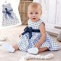 Da Criança do bebê Crianças Cotton Outfit Roupas Top Bow-knot Mantas Vestido Para 0-3 Anos