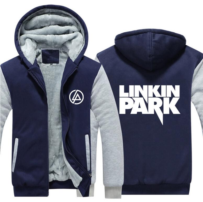 17 USA SIZE Men hoodies Linkin Park Adult Thicken Hoodie Zipper Sweatshirts Coat Jacket 4