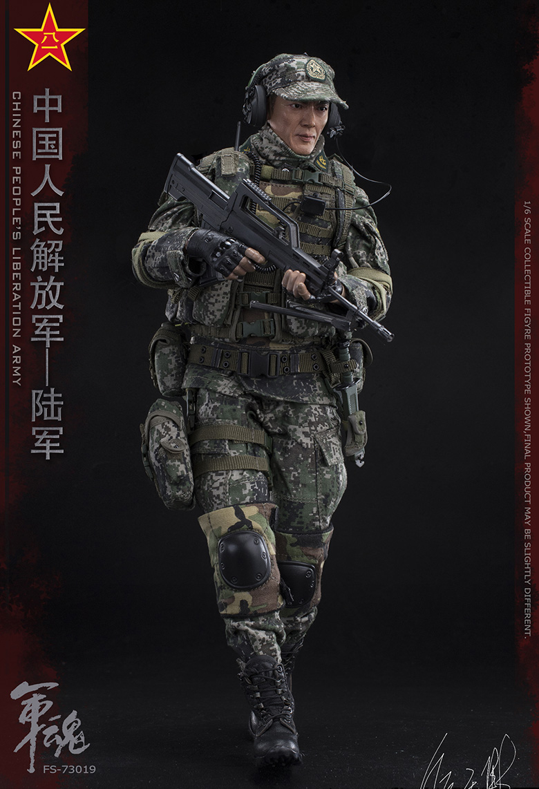 1/6 Scale Chiese People's Liberation Army Soul-Series Army Machine Gunner Military Solider Action Figure Full doll collection 6
