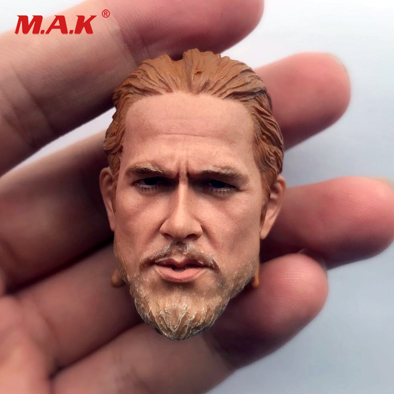 1/6 1/6 European Famous Actor Head Sculpt Charlie Hunnam Head Model Toy PVC Head Model For Man Body