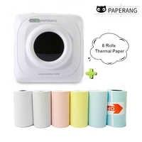 Mini impresora térmica Portátil con Bluetooth PAPERANG para Fotos, impresora para Android IOS de teléfonos móviles, regalos