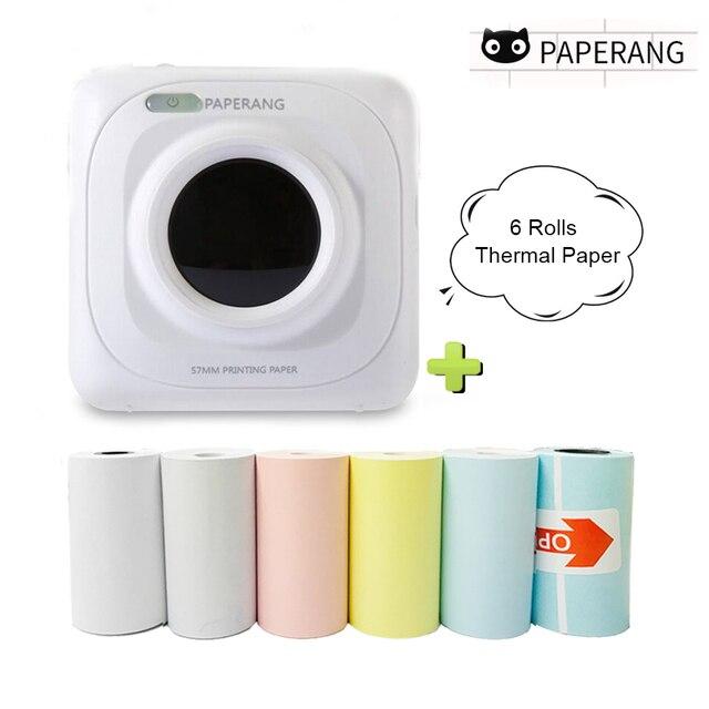 PAPERANG Mini Nhiệt Bluetooth Máy In Di Động Hình Ảnh Máy In Cho Điện Thoại Di Động Android IOS Impresoras Fotos Tặng