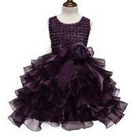 Princess Girl S Purple Gown Dress Children Bridesmaid Dresses Girls Tulle Dress Kids Ceremonies Party Dresses