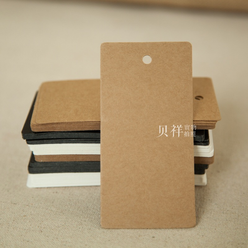 50 Pcs/Lot 5*10cm Rectangle Kraft Paper Blank Price Pack Labels DIY Card Greeting Handmade Hang Tag Party Wedding Gift Bookmark
