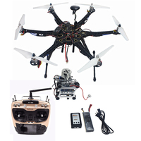 Tarot HMF S550 F550 Hexacopter Upgrade RTF Kit 920KV Brushless Motor APM 2.8 Flight Controller GPS Propellers Gimbal AT9S RC