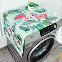 Multicolor Dual purpose Linen Dust Cover Proof Kitchen Washing Machine Refrigerator Storage