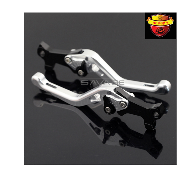 ФОТО For GILERA/PIAGGIO X-EVO 400 X8 X9 125/200/250/500 Silver Motorcycle Aluminum Adjustable Short Left Right Brake Levers
