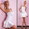 2016 Vestido de Verão Fora do Ombro Vestido de Festa Sem Mangas Sexy Boate Desgaste Do Clube Vestido de Mulher Vestidos Cardigans Branco S6120